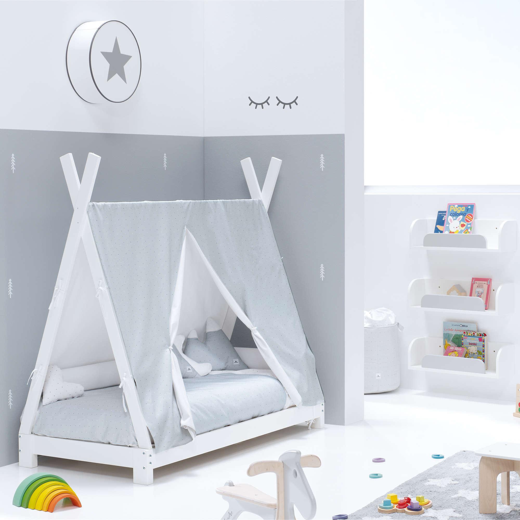 Cama Montessori Indy en gris claro Alondra