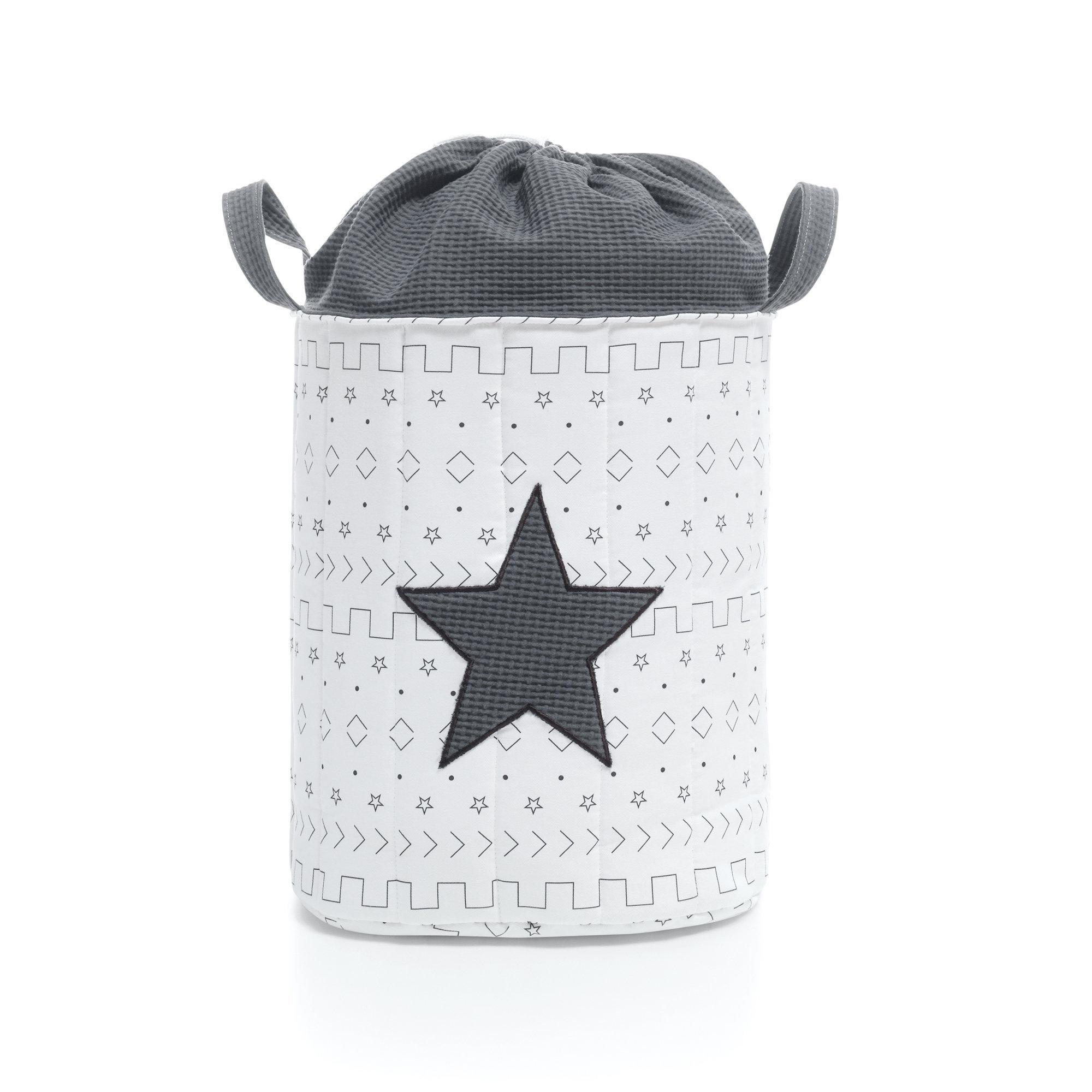 Saco infantil para guardar juguetes color negro y blanco