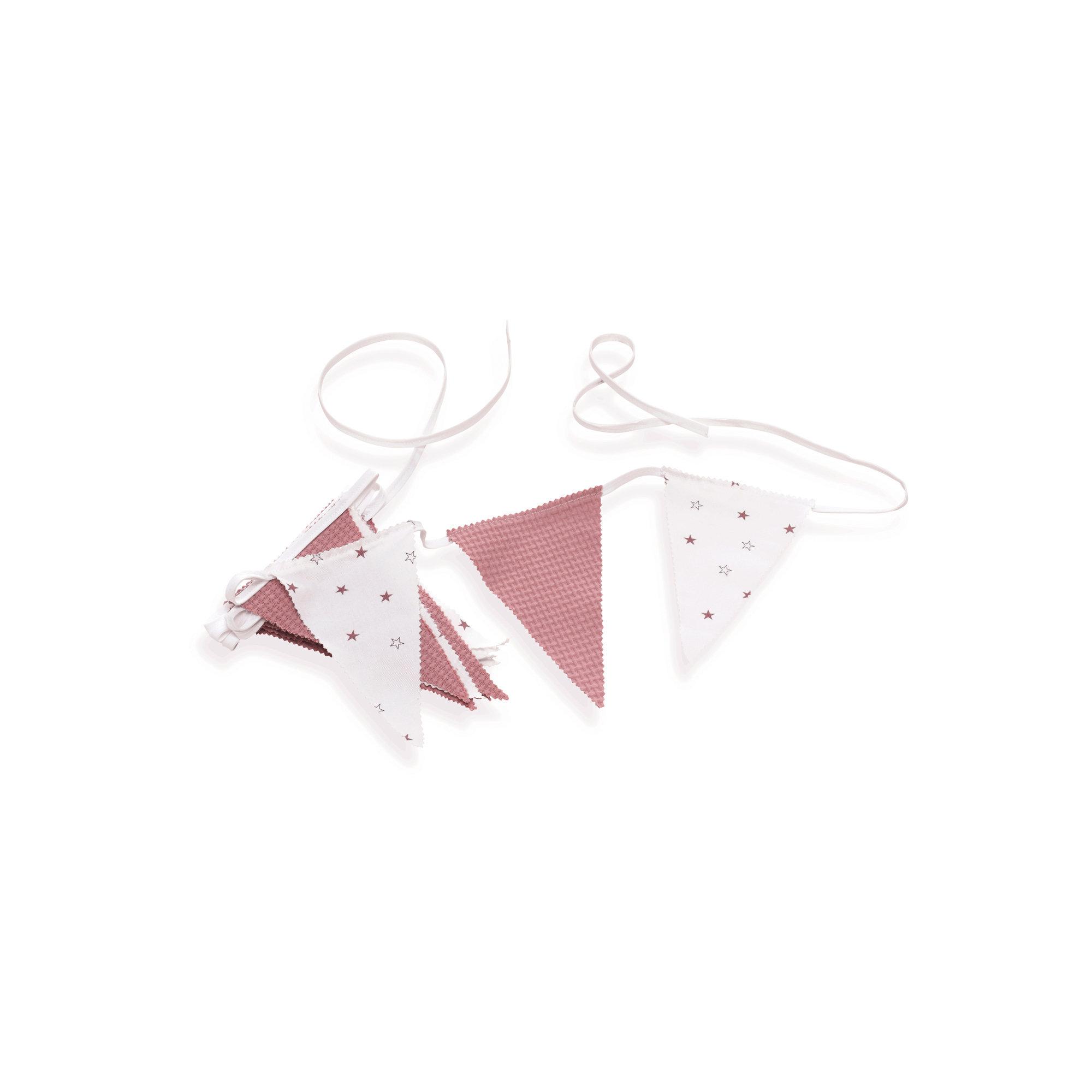 Guirnalda decorativa para habitación de bebé en color rosado y blanco