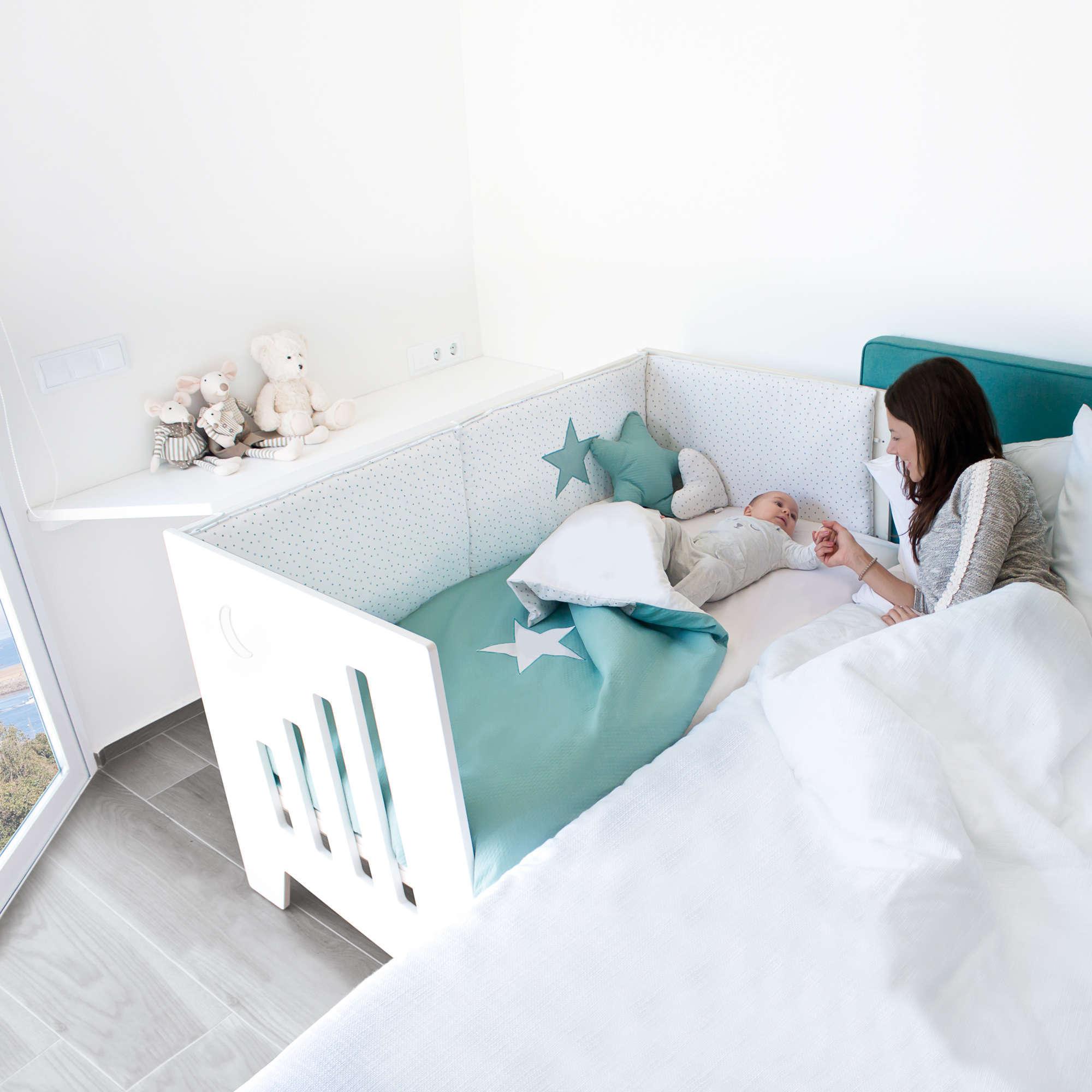Cuna colecho evolutiva 70x140cm convertible en cama y escritorio