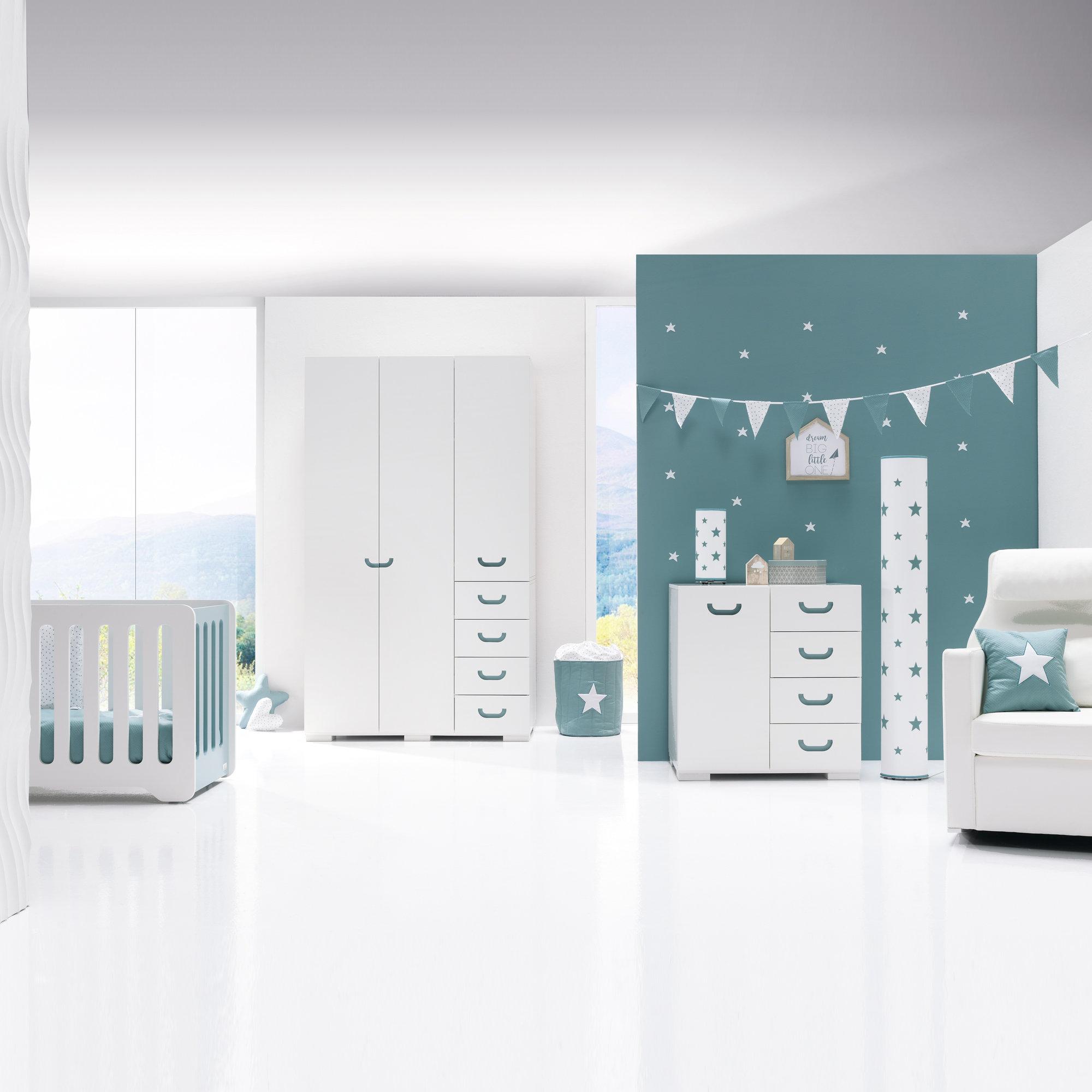 Habitación de bebé original y moderna