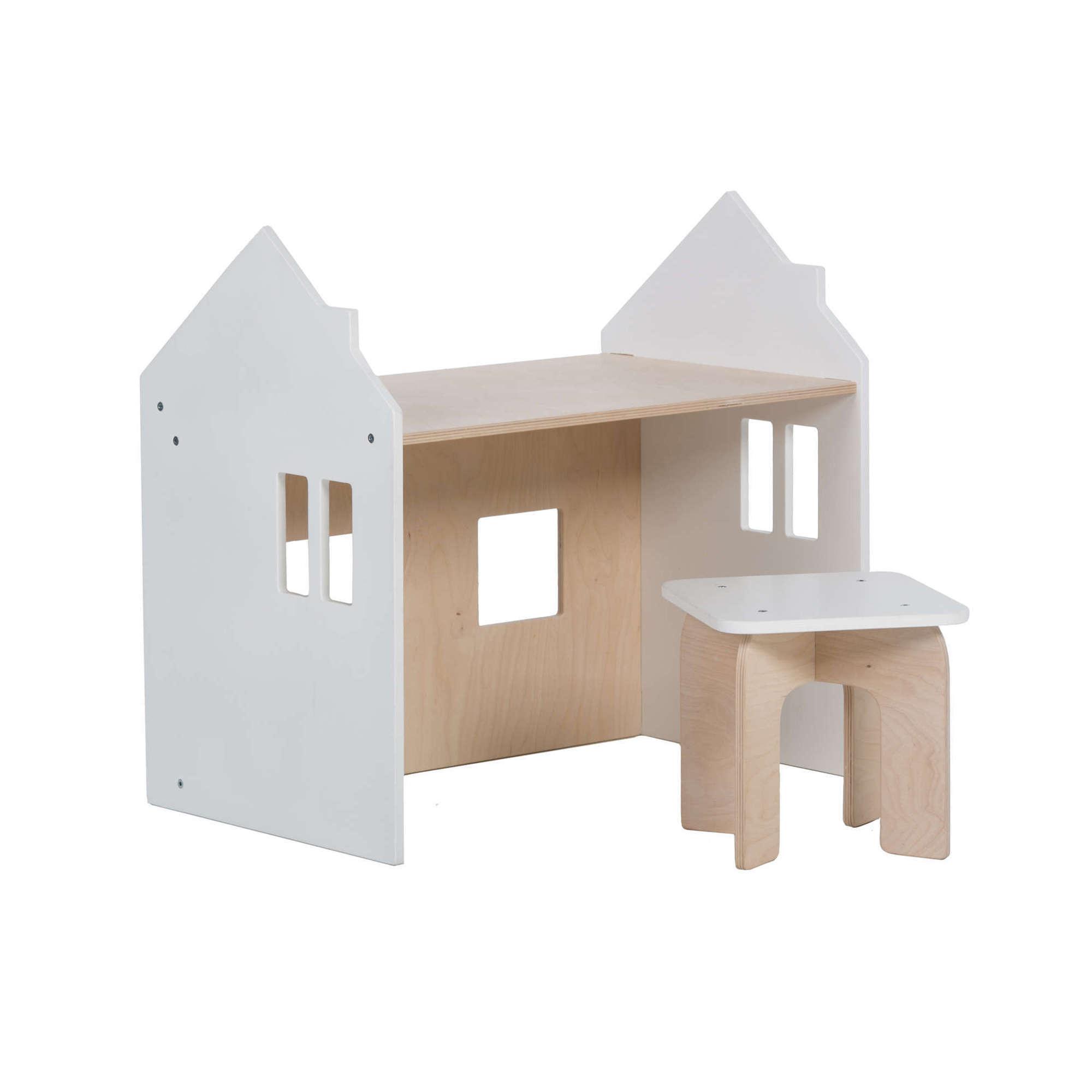 Set de escritorio y silla de madera para bebé Montessori