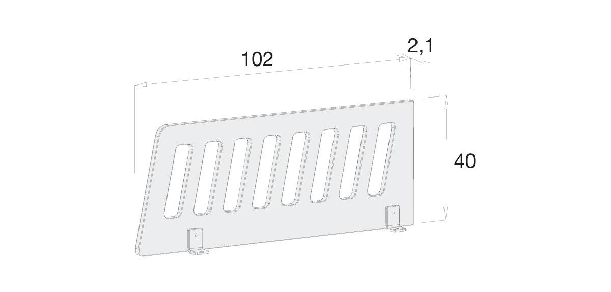 Medidas barrera protección cuna convertible o cama juvenil