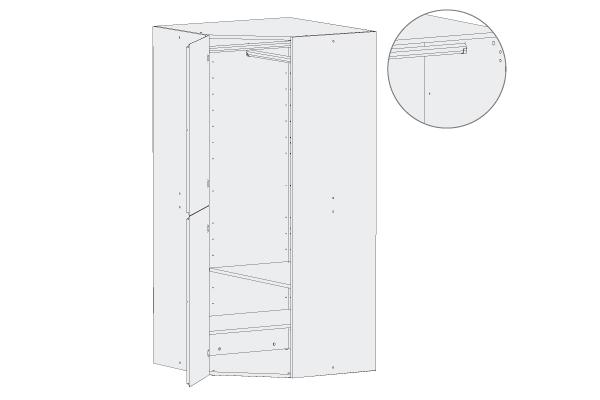 Armario con puertas y estantes