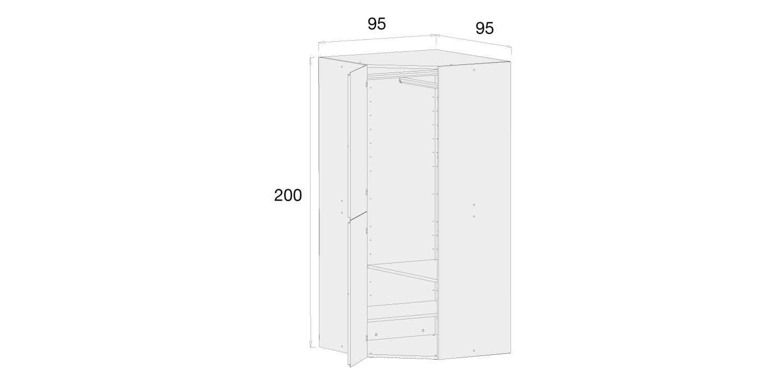 Medidas armario infantil Alondra A301r