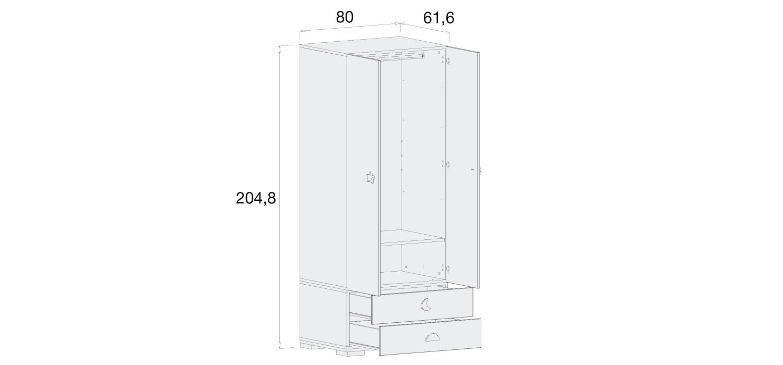 Medidas armario infantil Alondra A354