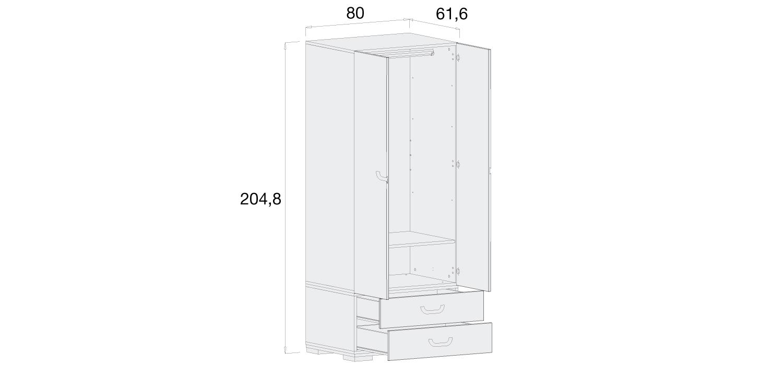 Medidas armario infantil Alondra A359