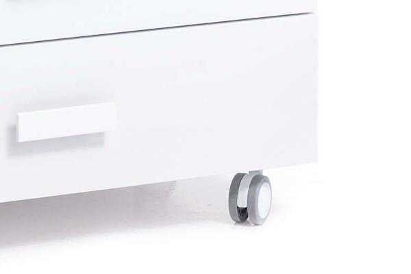 4 ruedas de plástico mueble bañera cambiador