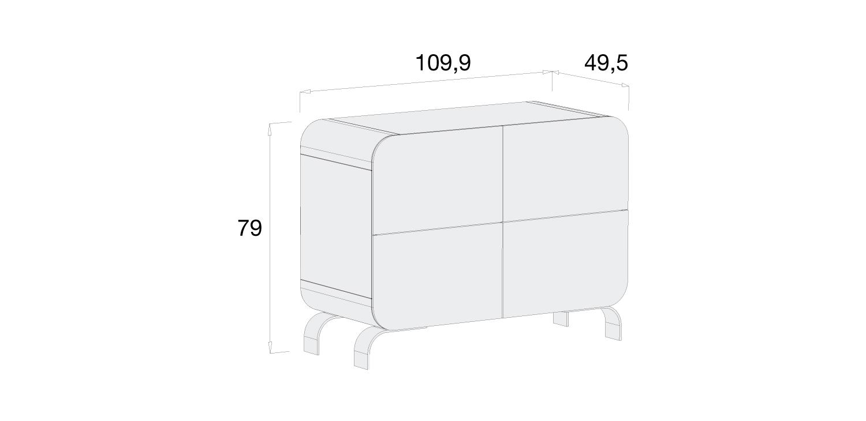 Medidas cómoda infantil Alondra D217