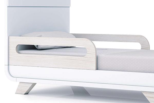2 barandillas cuna-cama fijas