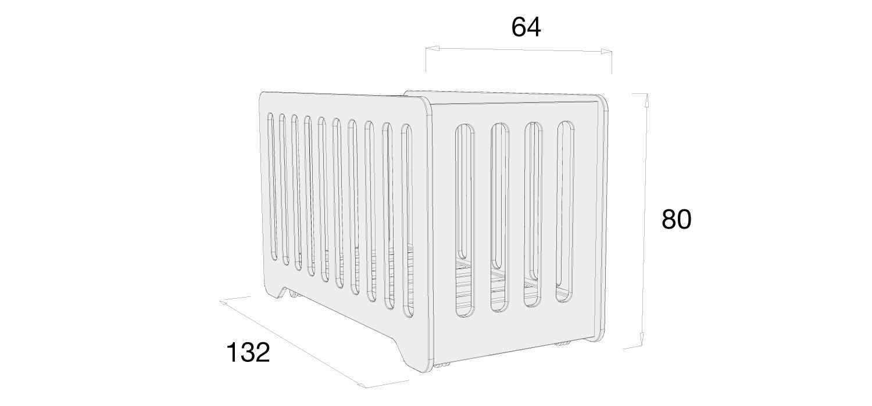 Medidas cuna C150 cuna 60x120