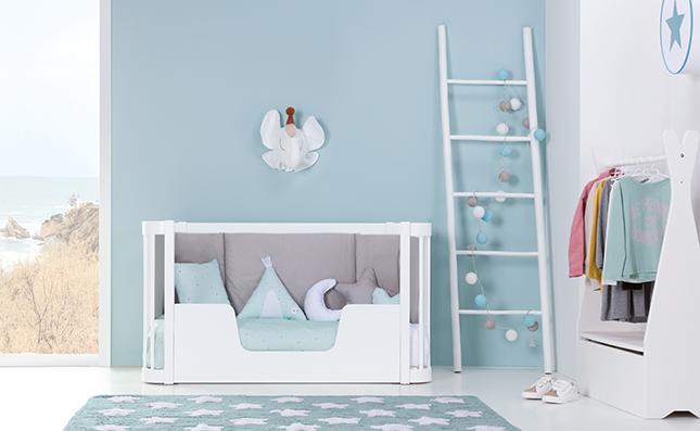 Cuna convertible en cama Montessori 70x140cm madera