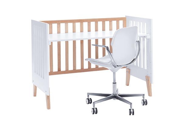 Cuna-escritorio 2 en 1