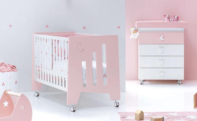 Cuna de bebé de 120x60cm convertible en escritorio