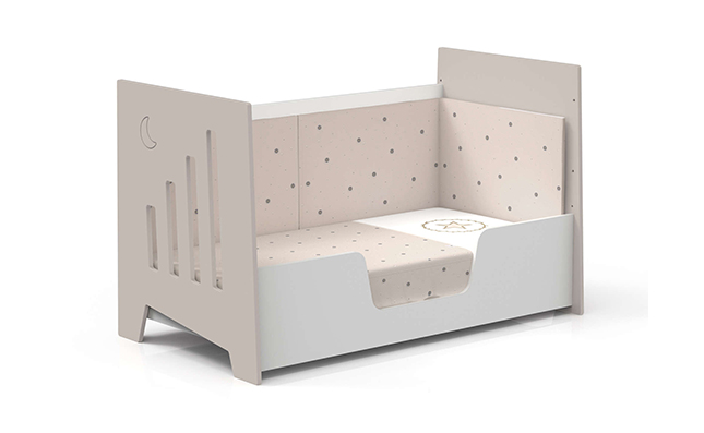 Cuna-sofá 70x140cm en color beige