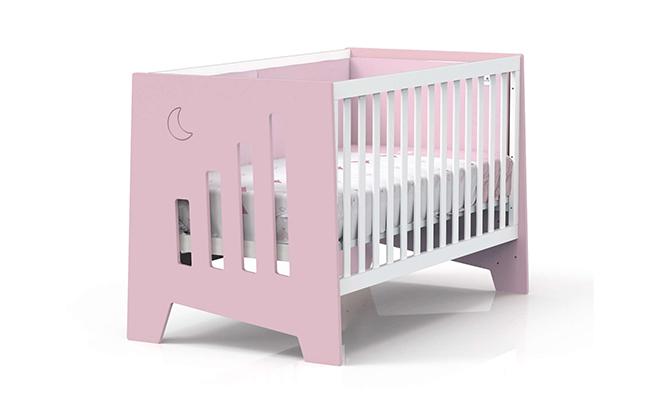 Cuna de bebé de 140x70cm convertible en escritorio