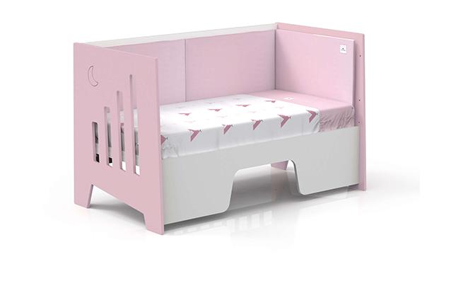 Cuna montessori 70x140cm convertible en escritorio
