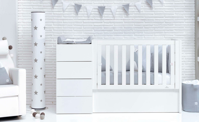 Cuna transformable 60x120 cm Just Even White