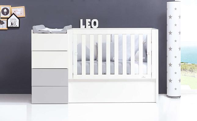 Cuna transformable en cama 60x120 cm Just Even Grey