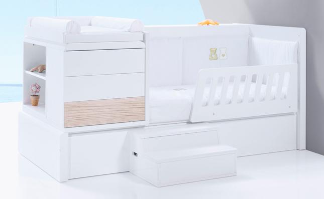 Cuna-cama Premium Kurve Coco derecha 70x140 convertible en cama junior