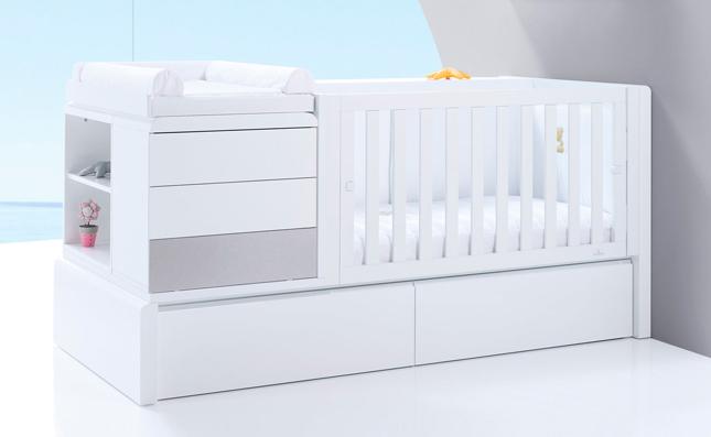 Maxicuna transformable cama Premium Kurve Grey derecha 70x140 cm