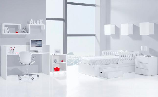 Cuna transformable habitación de bebé convertible Sero Evolutive Artik 70x140 cm