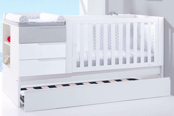 Cuna cama convertible 70x140 Sero Evolutive Pearl K502 con cama nido inferior