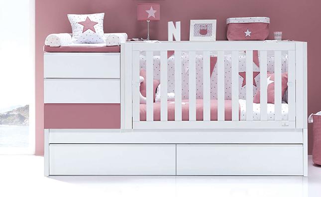 Cuna transformable en cama 70x140cm Sero Kubo Rose K551