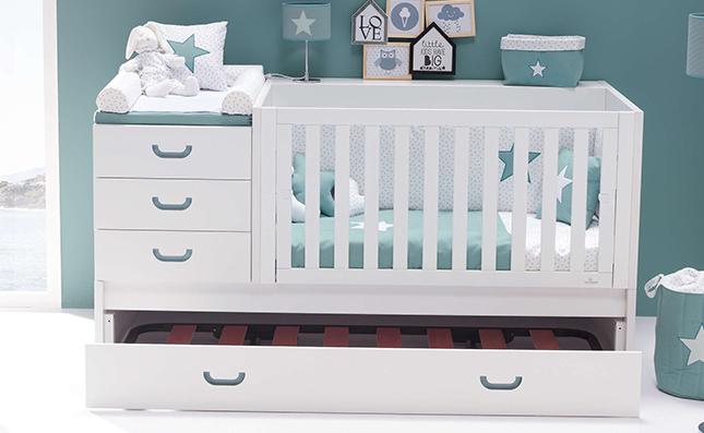 Cuna con cama nido convertible 70x140 Sero Joy Mare K559