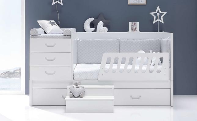 Cuna-cama de bebé convertibles Sero Joy White 70x140