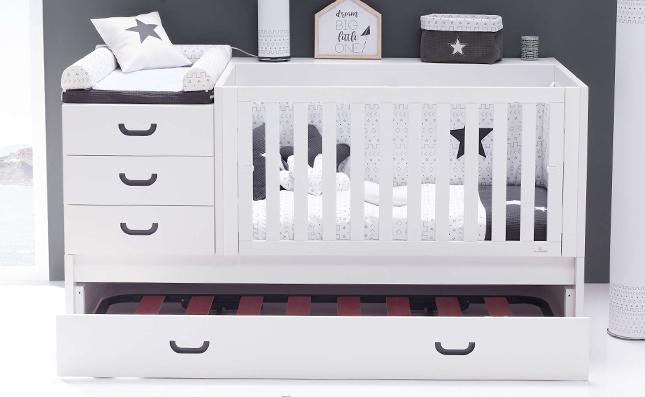 Cuna con cama nido inferior convertible 70x140 Sero Joy Etnik K559
