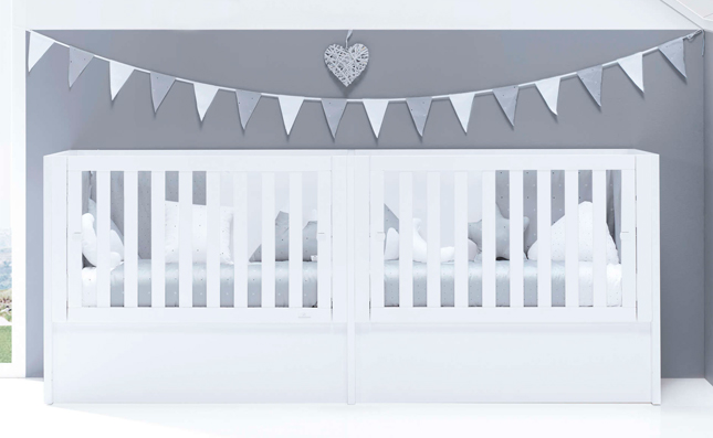 Cuna transformable 60x120 cm Just Bubble White