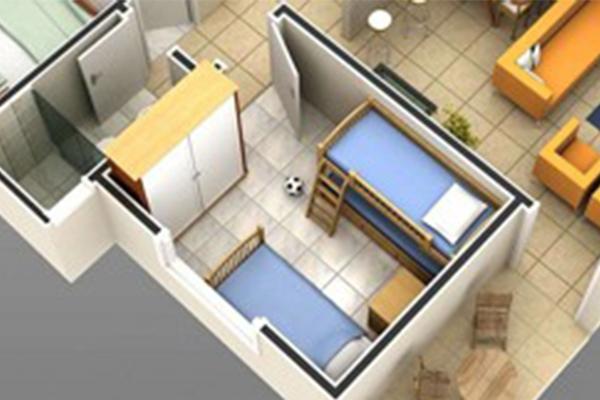 Diseñada para dormitorios de bebé más reducidos