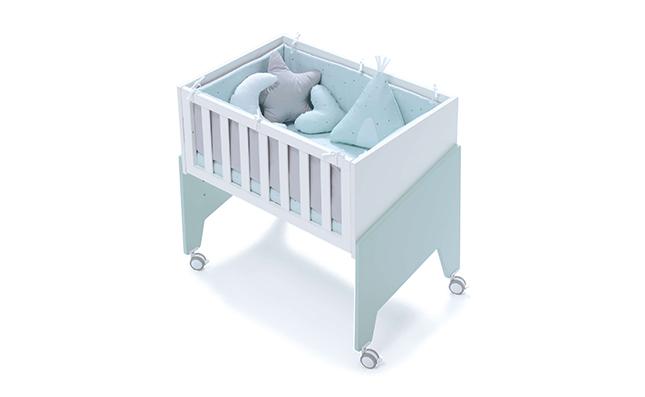 Minicuna de bebé de 50x80cm convertible en colecho