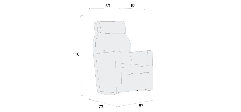 Medidas sillón lactancia modelo Ergo Plus de Alondra