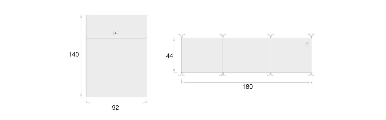 medidas set nórdico y protector de cuna 60x120cm