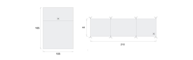 medidas set nórdico y protector de cuna 70x140cm